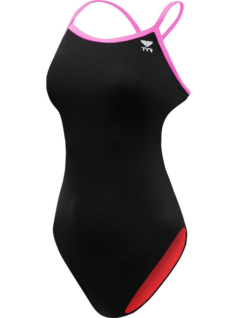 TYR Solid Trinityfit Bathing Suit Women black/pink